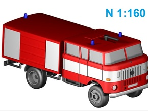 W50 Feuerwehr / Fire truck 4WD (N 1:160) in Frosted Ultra Detail