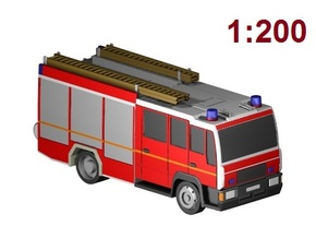 Feuerwehr (LHF) / fire truck (1:200) in Frosted Ultra Detail