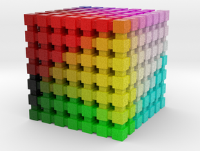 LAB Color Cube: 1 inch in Full Color Sandstone