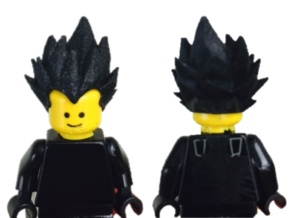 Vegeta Lego Hair Dragon Ball Z in White Strong & Flexible