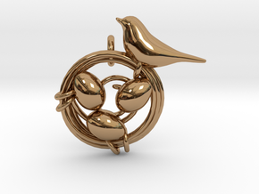 Birdie Pendant in Polished Brass