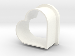 Heart Cookie Cutter in White Strong & Flexible Polished