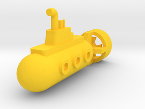 Toy Submarine in Yellow Strong & Flexible Polished