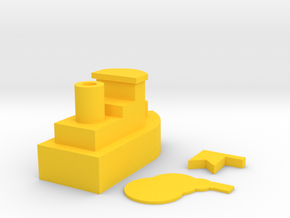 Toy Ship in Yellow Strong & Flexible Polished