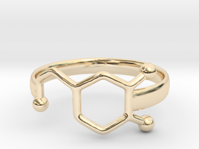 Dopamine Ring Size 6  in 14k Gold Plated