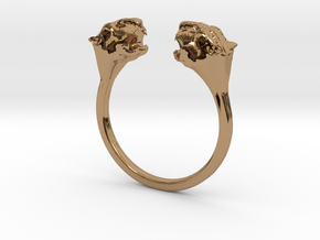 Panther Lady Ring in Polished Brass