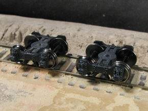 T95s N scale short Fox truck, screw mount in Frosted Ultra Detail