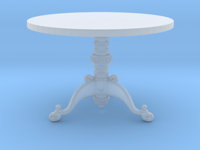 Miniature 1:48 Ornate 3 Leg Table in Frosted Ultra Detail