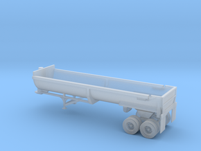 N Scale 1:160 End Dump Rock Trailer in Frosted Ultra Detail