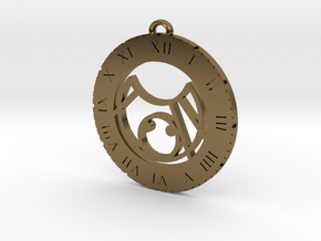 KC - Pendant in Polished Bronze