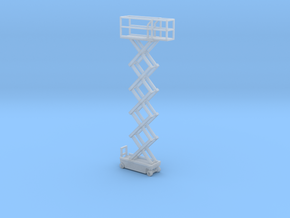 1:160 N Scale Scissor Lift - Fixed Position in Frosted Ultra Detail