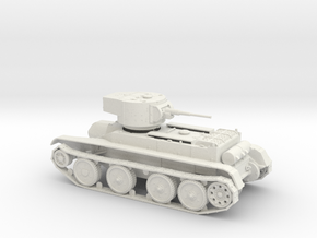 Soviet BT-5 tank 1:48 scale 28mm wargames in White Strong & Flexible