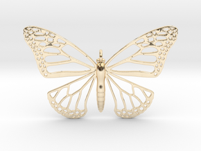 Strong Monarch Pendant in 14k Gold Plated