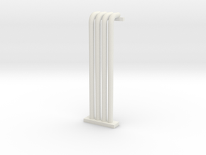 N Scale Pipe Rack Riser From Ground To 28mm in White Strong & Flexible