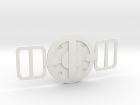 Deadpool Movie Buckle in White Strong & Flexible