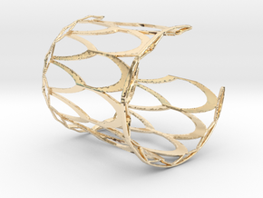 Fish Scale cuff bracelet - wide (sm/med, snug fit) in 14k Gold Plated