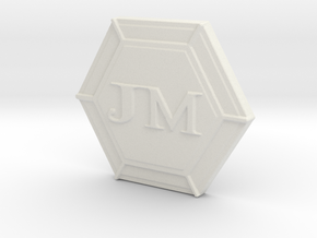JM's Personal Logo and Board Game Lager in White Strong & Flexible