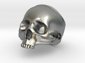 """The """"Ct Skull Ring"""" in Raw Silver"""