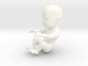 Baby in 5cm Passed in White Strong & Flexible Polished