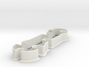 Wrench cookie cutter in White Strong & Flexible