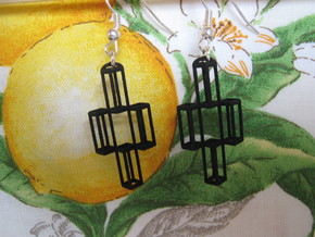 Parallelepiped Earrings in Black Strong & Flexible