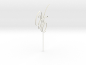 Cake Topper VE Letters MESH in White Strong & Flexible