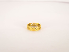 Celtic Ring Size 5 in Polished Brass