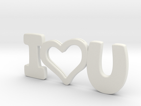 I Love You - Photo Frame in White Strong & Flexible