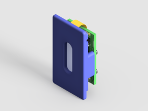 DNA25 or DNA40 Mounting Plate in Blue Strong & Flexible Polished