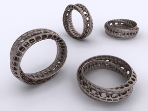 Twisted Bond Ring in Stainless Steel