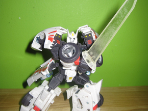 Black Iron Great Sword in White Strong & Flexible