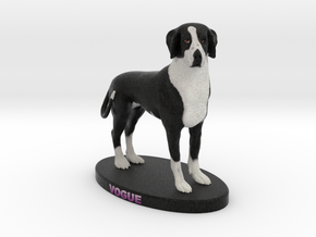 Custom Dog Figurine - Vogue in Full Color Sandstone