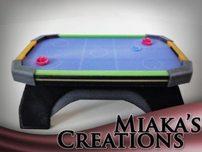 Mini Air Hockey Table in Full Color Sandstone