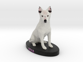 Custom Dog Figurine - Siva in Full Color Sandstone