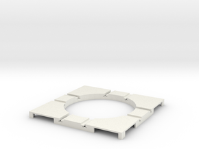 T-165-wagon-turntable-48d-100-corners-flat-1a in White Strong & Flexible