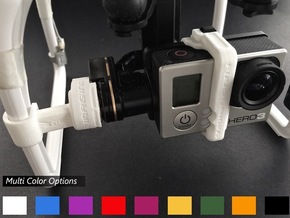GoPro Zenmuse H3-2D Mounting Bracket in White Strong & Flexible Polished