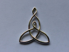 Mother And Child Knot Pendant in Polished Silver