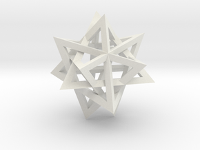 Tetrahedron 4 compound, flat faced struts in White Strong & Flexible