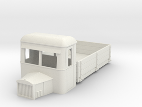 009 dropside goods railbus with bonnet in White Strong & Flexible
