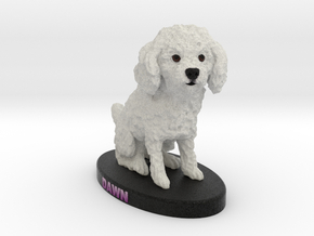 Custom Dog Figurine - Dawn in Full Color Sandstone