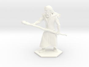 Staff Wizard in White Strong & Flexible Polished