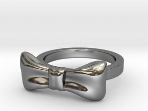 Bow Midi Ring in Premium Silver