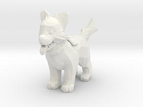 Icewrack Fluffy Wolf - Toys in White Strong & Flexible