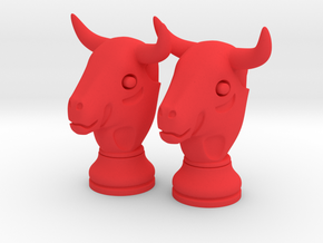 Pair Chess Bull Big | Timur Thaur in Red Strong & Flexible Polished
