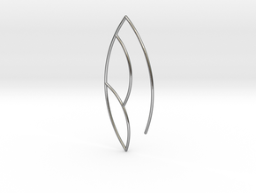 Leaf Earring in Polished Silver