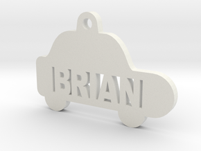 Car ID Tag - Brian in White Strong & Flexible