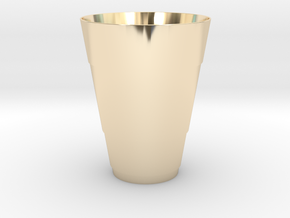 Gold Beer Pong Cup in 14k Gold Plated