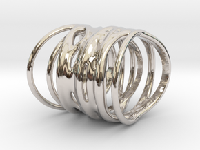 Ring of Rings No.1 in Rhodium Plated