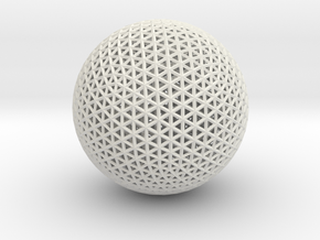 Space frame sphere tiny in White Strong & Flexible
