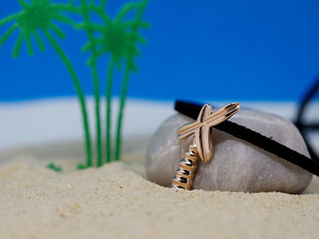 Palm Tree Pendant | Shut Up Cláudia! in 14k Rose Gold Plated